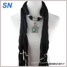 2014 Fashion Pendant Jewelery Scarves (SN1201-1)