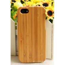 Tampa de bambu do iPhone da natureza da planta