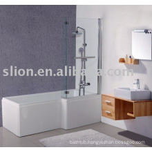 L shape acrylic bathtub,baby bathtub,square acrylic bathtub
