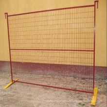 Orange Plastik beschichteter Sicherheitszaun