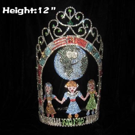 Coronas de desfile personalizadas únicas de 12 pulgadas de alto con un tema temático