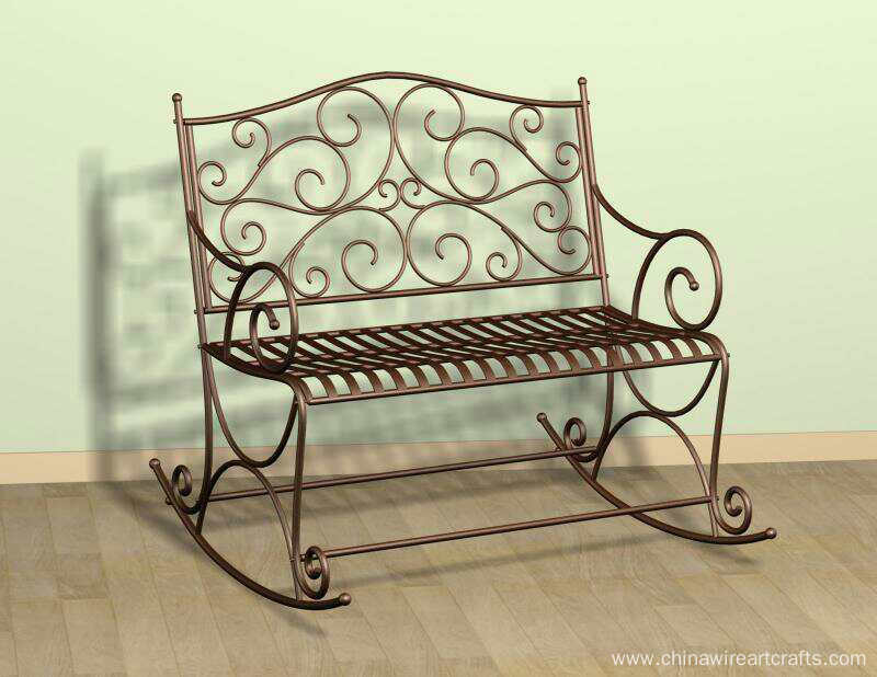 Metal Double Rocking Chair
