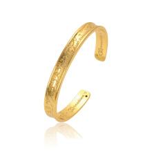 52252 brazaletes de oro últimos diseños de moda 18k delicado circonita blanca flor de piedra chapado en oro brazalete de la joyería
