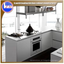 Glossy impermeável MDF cozinha com acessórios cesta