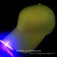 Gelber Baseball-Hut mit einem Licht DONGGUANG Fabrik
