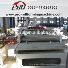 Aplanamiento y dispositivo de desviación de rectificación para la máquina de fabricación de tambores de acero
