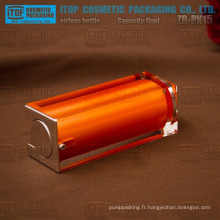 ZB-PK15 15ml couleur personnalisable cristallines doubles couches carré flacon airless pour huile essentielle