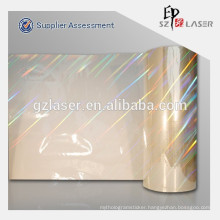Holographic plastic pet transfer wrapping film manufacturer