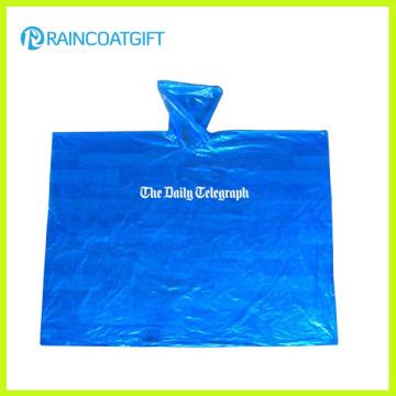Emergencia con capucha personalizado impreso PE Poncho de lluvia Rpe-034