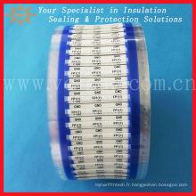 Étiquette de manchon thermorétractable à faible fumée