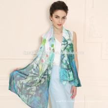 Мода Горячие Продаем стильные женщины длинный мягкий шелковый шифон Шарф Wrap шаль Шарфы