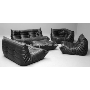 Ligne Roset Togo Ottoman Leather Version