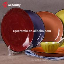 Mikrowelle & spülmaschinenfeste keramische Steinzeug ovale Platte