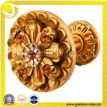 Forma de la flor titular de la borla de la cortina y diseño del gancho, accesorio de la cortina