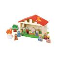 Красиво украшенные рождественские сцены Дети, обучающиеся, комплект Фотографии Обучающие игрушки