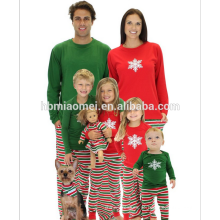 2017 Granel Por Atacado Crianças Roupas Crianças Meninas Veados Impressão de Algodão Macio Crianças Pijama De Natal