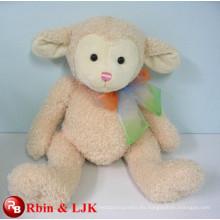 Cumple EN71 y ASTM estándar ICTI peluche de juguete de fábrica de peluche de color rosa oveja de juguete