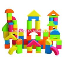 Bloc de mousse de coloré bâtiment EVA avec impression pour enfants jouets mousse