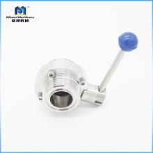 Sanitary Tri clover butterfly valve custom