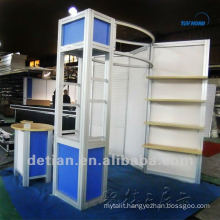 10x10 small aluminum display exhibition booth, booth space 10x10 with shelves/hooks from shanghai china