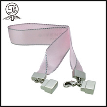 Pink Ribbon lock shape cosmetic charm silver