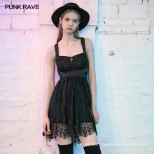 lack romantic PunkLace dress with OPQ-728LQF Lace strap