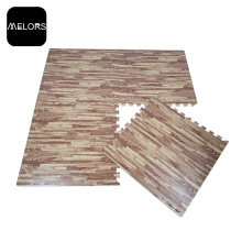 Fitness interlocking EVA foam Plain 60cm Puzzle in legno-grana