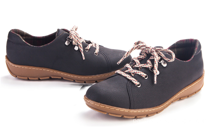 buckle design easy put on lady leisure shoes casual shoes