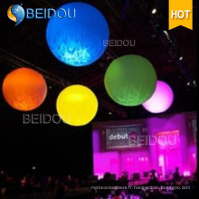 LED Advertising PVC Balls Gonflable Stand Ground Spheres Hanging Balloons
