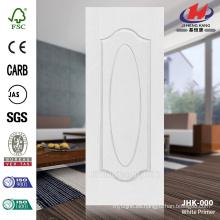 JHK-000 3MM HDF MDF 1 + 1 modelo de alta calidad moldeada América del Sur blanco puerta de la piel