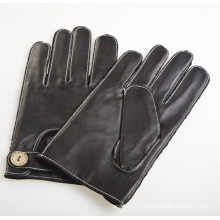 Men′s Fashion Outside Sewing Sheepskin Leather Driving Gloves (YKY5202-2)