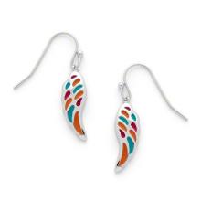 Costume Enamel Jewelry Wing Shape Drop Earrings for Children (KE3502)