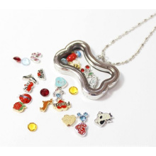 Zinc Alloy Floating Charms Locket of Dog Bone Shape