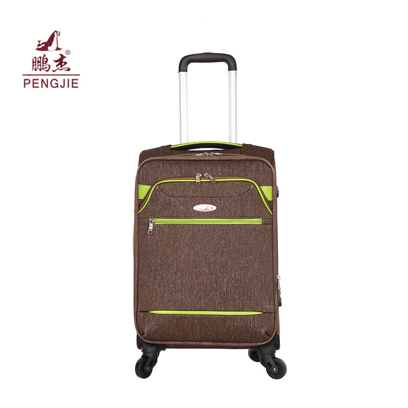 OEM-Logo Soft Polyester Fabric Rolling Travel Luggage