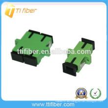 Color Verde SC / APC Adaptador de fibra óptica Simplex / Duplex
