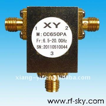 Poder dianteiro 10W 8.7-10.4GHz SMA / N conector rf coaxial circulador