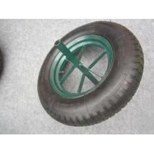 Rueda de goma neumática con patrón de orejetas de 16 pulgadas, rueda de aire 4.00-8, rueda de carretilla4.80 / 4.00-8
