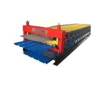 Professional Double Plate Colored Steel Roll Forming Machine