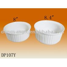 Venta al por mayor directa de fábrica 8 | 8.4 pulgadas de porcelana redonda sobre la placa