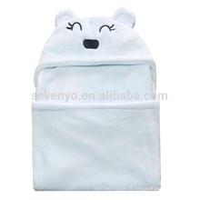 Urso de bebê com capuz de toalha de banho meninos & meninas cobertor chuveiro presente