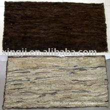 mink belly fur plate