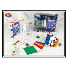 plastic 4x4 magic educational cube toys