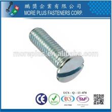 Made in Taiwan Carbon Steel DIN964 M2.5X6 Slotted Drive gehobenen Senkkopf-Maschinen Schrauben