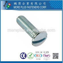 Feito em Taiwan Carbon Steel DIN964 M2.5X6 Slotted Drive Raised Countersunk Head Machines Screws
