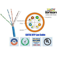 shenzhen lansan lan cable CAT5E UTP 305m cable 4P*24AWG 0.50mm BC pass fluke test
