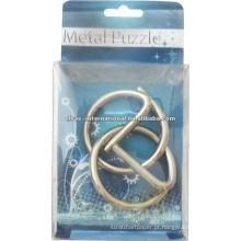 Pequena 3D Metal Puzzle com solução de anéis