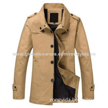 2014 Men's Cotton Casual Jacket for Spring and Autumn, Cotton Shell and Polyester Lining