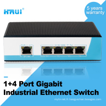 Commutateur industriel ethernet de type de rail de gigabit de 4 barres de rail