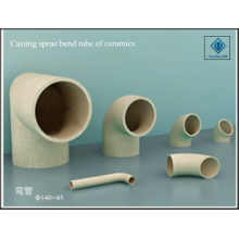 Casting of ceramics sprue bend tube
