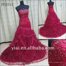 PP2511 Оптовая Бесплатная доставка кружева Русалка вечернее платье 2011